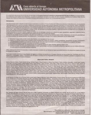 Declaracion de la ley de aguas
